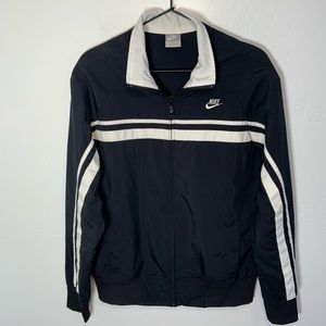 Nike Lightweight Track Striped Jacket Sz Lg